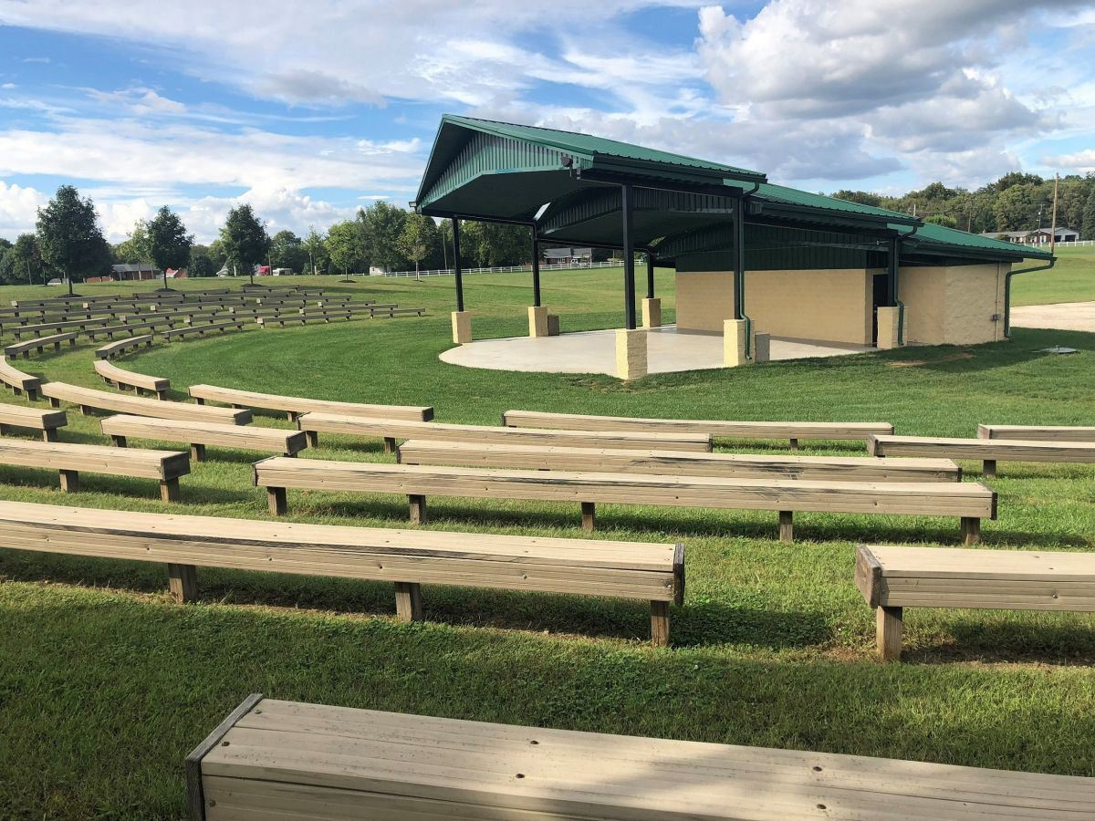 Trenton Community Park Outdoor Stage and Seating